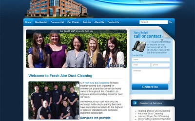 New Duct Cleaning word press website goes live