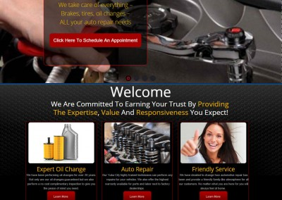 Auto repair website