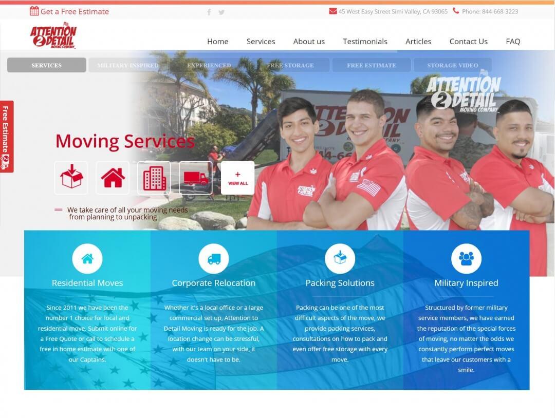 Moving Company Website
